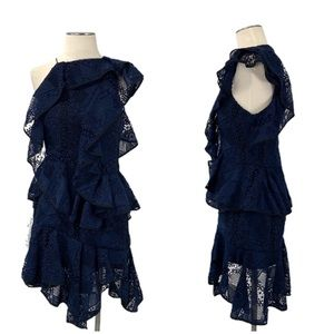 Acler- Navy Bentley Floral Lace Dress Size 6